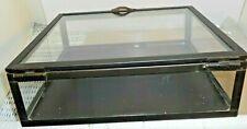 Shadowbox Table Top Display Case Box Metal & Glass - Multi Purpose