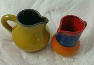 Vase FAT LAVA ÄRA Germany 60er / 70er Jahre 2 Kramik- Vasen / Keraffen