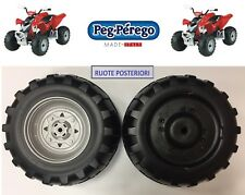 PEG PEREGO -  2 RUOTE POSTERIORI POLARIS OUTLAW 12 Volt SARP9173NGR -nuovo-IT