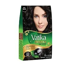 Vatika Henna Hair Colour RICH BLACK 100% Ammonia Free 6 x 10g Sachtes - 60g