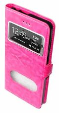 HOUSSE COQUE ETUI Cuir Pu view cover ROSE pour LG STYLUS 2