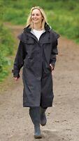 Womens Ladies Long Full Length Waterproof Riding Cape Rain Coat - B33