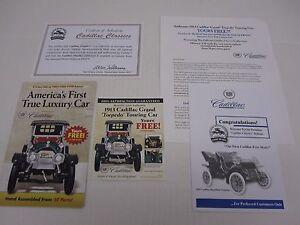 Danbury Mint BROCHURE 1913 Cadillac Grand Torpedo Car  Certificate Authenticity