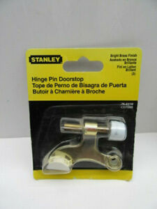 STANLEY TOOLS 76-6310 CD7090 Hinge Pin Doorstop Bright Brass Finish