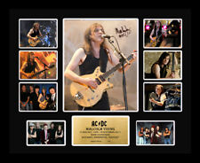 New  Malcolm Young Signed AC DC ACDC Limited Edition Memorabilia Framed