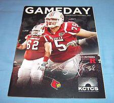 Rutgers vs Louisville Game Program Magazine 2011 Bonus Signed Joe Martinek