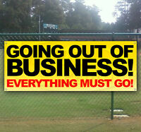 GOING OUT OF BUSINESS Advertising Vinyl Banner Sign LARGE SIZES! BUSINESS SIGNS