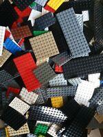 LEGO 30 Platten Bauplatten Sammlung Konvolut von CITY - STAR WARS ab 4x4 Noppen