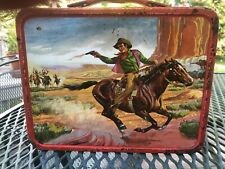 Vint 1964 Wagon Train Lunchbox With No Thermo, Western Television Series Show
