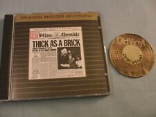 MFSL CD JETHRO TULL Thick As A Brick 24KT Gold Japan | NM