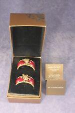 Pair Jay Strongwater Swarovski Jeweled Turtle Enamel Napkin Rings w Original Box