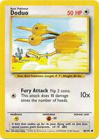 Doduo Common Pokemon Card Base Set Unlimited English 48/102