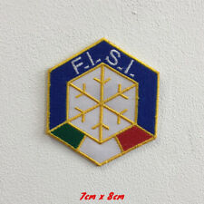 FISI Italy ski sports art badge Iron or Sew on Embroidered Patch applique