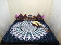 Indian Hippie Mandala Wall Hanging Cotton Bed Cover Bohemian Bed Spread TA23