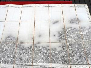 Carte Etat Major 1/80000 DUMAINE 1890 LANNION 14