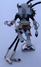 HUGE Zuni sterling gem inlay Buffalo Kachina bolo tie sculpture Jonathan Beyuka