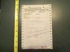 Kennedy service garage battery Service Station Red Wing Invoice Letterhead 779