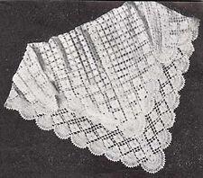 Vintage Crochet Shawl In Crocheting Knitting Patterns For Sale Ebay
