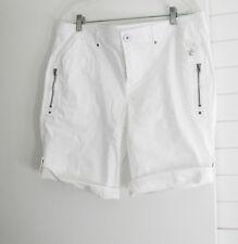 Style&Co. Womens Petite Cuffed Bermuda Shorts Bright White Sz 16P -- NWT