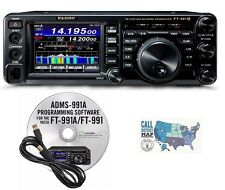 Yaesu FT-991A HF/VHF/UHF All Mode Radio w/ RT Systems Prog. Software and Cable!