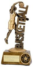 A1243A RESIN FEMALE BASKETBALL TROPHY SIZE 13.5CM  FREE ENGRAVING