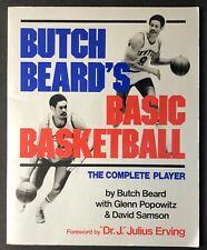 BUTCH BEARD Basic Basketball 1st Edition Softcover 1985 Julius Erving Dr. J.