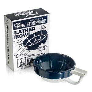 Fine Wet Shave Lather Bowl Blue White
