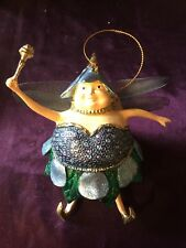Beautiful Christmas Fairy Tree Hanging Ornament - Approx 14cm - Blueberry