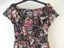 Gorgeous Black Floral Frilled Dress from TU - Size 8 - BNWOT!!