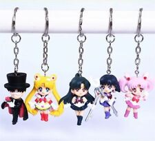 Sailor Moon Sailor Chibi Neptune Pluto Saturn Uranus Keychain Figure 5pcs