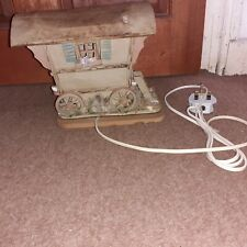 vintage pottery illuminating gypsy caravan