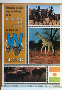 Africa/National Park/Travel Poster/Vintage/Very Rare/Niger/Zoo/Giraffe/African