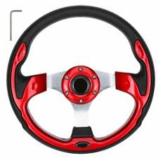 10L0L Golf Cart Red Steering Wheel Without Adapter For Ezgo/Yamaha/Club Car