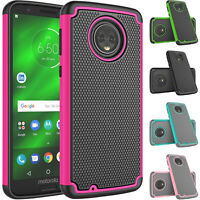 For Motorola Moto G6/Moto G 6th Gen Shockproof Dual Layer Hybrid Rugged Case