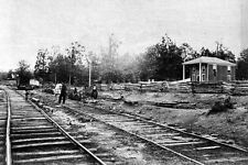 New 5x7 Civil War Photo: Confederate Army Provisions Appomattox Railroad Station