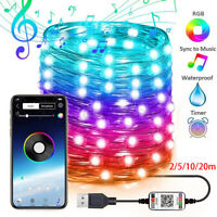 Weihnachten Tree Decoration Lights Custom LED String Licht APP Remote Control