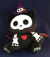 "7"" Skelanimals Kit the Cat Purple Witch's Hat & Cape Plush Skeleton Stuffed Doll"
