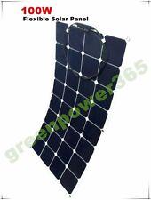 NEW 100W Watt Solarmodul 12V Volt Semiflexibel Mono Zellen Flexible Solarpanel