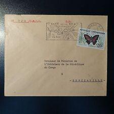 CENTRAFRIQUE LETTRE COVER 1963 OUBANGUI POUR LE MINISTRE DE L'INTÉRIEUR DU CONGO