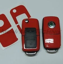 2S_Key Decoration Sticker Skoda Fabia Oktavia Superb RS Roomster red shiney