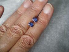 Daha Kyanite cushion stud earrings, 1.4 carats, 0.85 grams of 925 Sterling Silve
