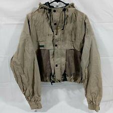 Columbia Mens Tan PFG Fishing Nylon Utility Vented Jacket Performance Gear XL
