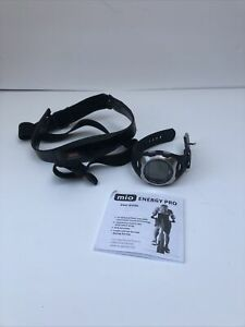 MIO Energy Pro Heart Rate Monitor w/Chest Strap FITSTIK Date & Alarm Sport Watch