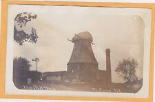 Real Photo Postcard Rppc - The Old Mill - Peotone Illinois