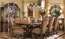 7 pc english formal dining room furniture table set