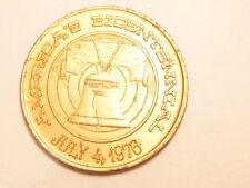 gold colored aluminum medal:  America's Bicentennial,  Philadelphia