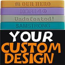 500 Pieces Custom 100% Silicone Bracelets & Wristbands