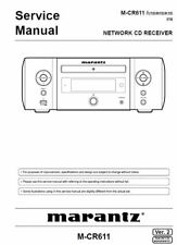 Marantz Melody MCR611 M-CR611 Network Receiver Original Service Manual