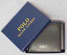 Polo Ralph Lauren Mens Double Billfold Wallet 12 Slots Brown Leather NEW $100