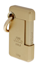 ST DUPONT HOOKED JET CIGAR LIGHTER W KEY RING LACQUER GOLD 032014 32014 LING-O